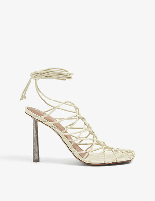 Fenty by Rihanna Caged In lace-up leather sandals