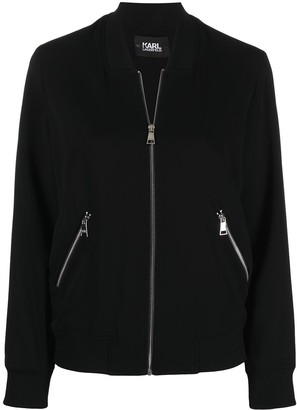 Karl Lagerfeld Paris Logo-Tape Windbreaker