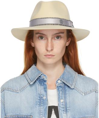 Maison Michel Beige Wool Rico Panama Hat