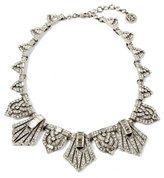 Ben-Amun Deco Crystal Triangle Collar Necklace