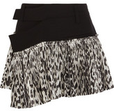 Haider Ackermann Stretch-Wool And Leopard-Print Silk-Blend Wrap Mini Skirt