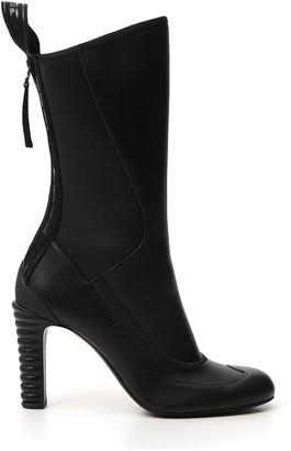 Fendi Panelled Round-Toe Boots