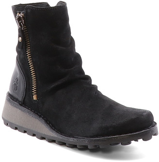 Fly London Women's Casual boots 014 - Black Mong Ankle Boot - Women