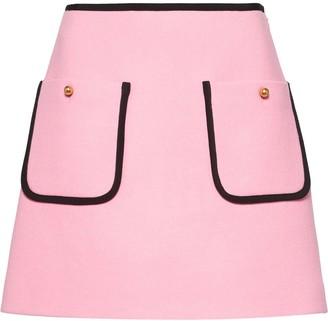 Miu Miu Flared Knitted Skirt