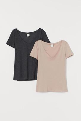 H&M 2-pack V-neck T-shirts