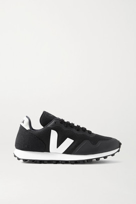 Veja + Net Sustain Sdu Rt Rubber-trimmed Vegan Suede And Mesh Sneakers - Black