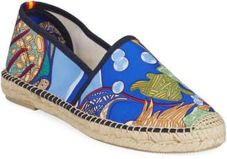 Hermes Respoke Gala Flat Silk Espadrilles