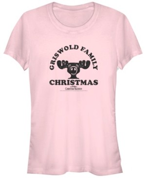 Fifth Sun National Lampoon's Christmas Vacation Griswold Family Christmas Moose Logo Women's Short Sleeve T-Shirt