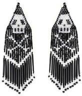 Forest of Chintz Black Jolly Roger Earrings