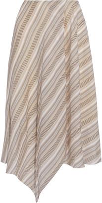 Acne Studios Ilsa Asymmetric Striped Cotton-voile Skirt