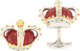 Deakin & Francis Men's Crown Cufflinks-RED