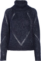 Tanya Taylor Billi pointelle trimmed wool and silk-blend turtleneck sweater