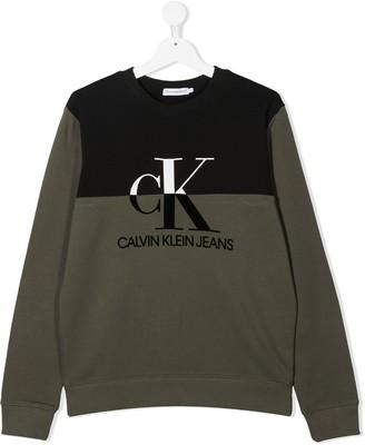 Calvin Klein Kids Logo Print Jumper