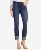 NYDJ Alina Tummy-Control Embroidered Ankle Jeans