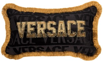 Versace Sequinned Logo Cushion
