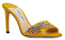Jimmy Choo Women's Stacey 85 High Heel Crystal Mules