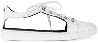 Balmain Cut-Out Low-Top Sneakers