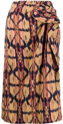 Ulla Johnson Ember Ikat-print cotton skirt