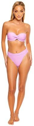 Luli Fama Cosita Buena High Banded Waist Bottom (Lavanda) Women's Swimwear