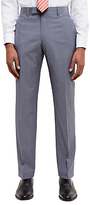 Jaeger Super 110s Wool Sharkskin Regular Fit Suit Trousers, Grey Melange