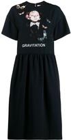Valentino Gravitation-print jersey dress