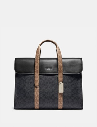 Coach Metropolitan Portfolio In Colorblock Signature Canvas