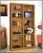 Concepts In Wood Midas Double Wide 12-Shelf Bookcase in Dry Oak