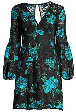 Nanette Lepore Women's Aerial Floral-Embroidered Lace Shift Dress
