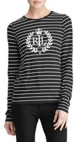 Lauren Ralph Lauren Petite Long-Sleeve Stripe Graphic Tee