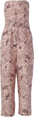 ASTR the Label Women's Strapless Cropped Wide Leg Kona Jumpsuit