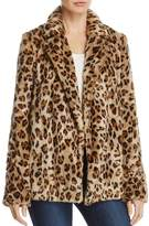 Theory Clairene Leopard-Print Faux-Fur Coat