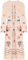 Vilshenko Jerry Floral-print Silk Crepe De Chine Dress - Blush