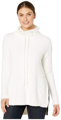Lysse Lumen Sweater in Faux Mink (Snow White) Women's Clothing