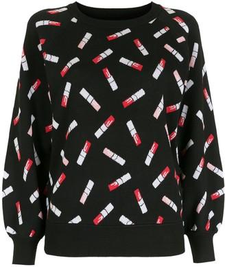 Armani Exchange Lipstick Print Sweatshirt