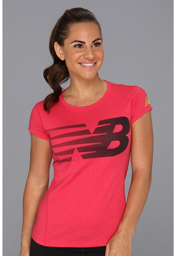 New Balance Elite Heather S/S Top (Virtual Pink) - Apparel