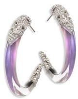 Alexis Bittar Lucite & Crystal Hoop Earrings/1