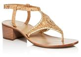 Jack Rogers Elise T Strap Block Heel Sandals