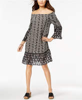 Style&Co. Style & Co Printed Off-The-Shoulder Dress, Created for Macy's