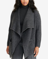 Lauren Ralph Lauren Plus Size Herringbone Cardigan