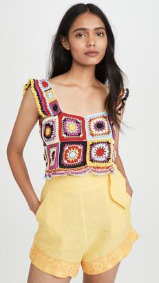Carolina K. Tile Crochet Top