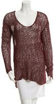 Helmut Lang Crochet V-Neck Sweater
