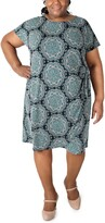 Thumbnail for your product : Robbie Bee Plus Size Printed Sheath Dress