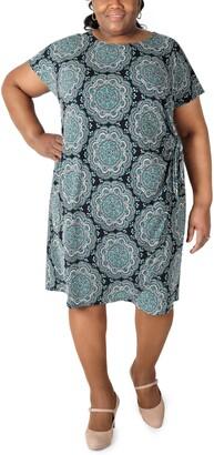 Robbie Bee Plus Size Printed Sheath Dress