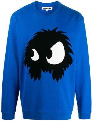 McQ Swallow Long Sleeve Graphic Sweater