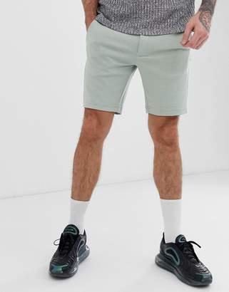 Jack and Jones intelligence pique smart shorts in green