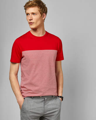 Ted Baker GAMIN Striped panelled T-shirt