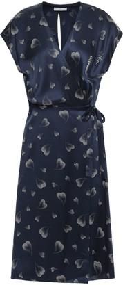 Joie Bethwyn B Printed Silk-charmeuse Wrap Dress