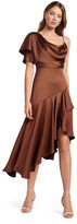 Forever New Arianna One Shoulder Dress Chestnut