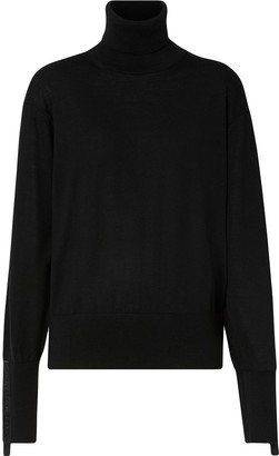 Burberry Logo Tape Cuff Jumper