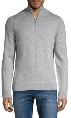 Michael Kors Merino Wool Half-Zip Sweater